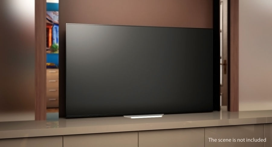 Sony OLED TV Bravia AF8 Off royalty-free 3d model - Preview no. 3