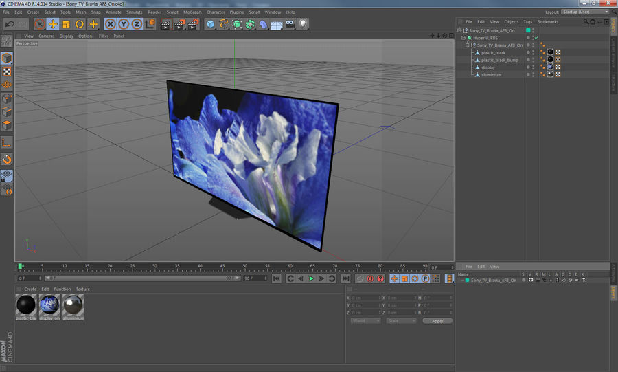 Sony TV Bravia AF8 On royalty-free 3d model - Preview no. 13