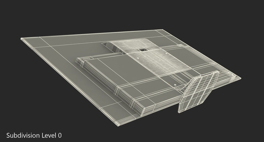Sony TV Bravia AF8 On royalty-free 3d model - Preview no. 8