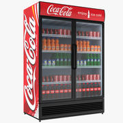 Fylld Coca-kyl med dubbeldörr 3d model
