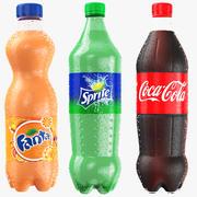 Collection de bouteilles de famille Coca Cola 3d model
