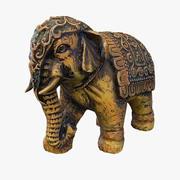 Elephant Statuette PBR 3d model