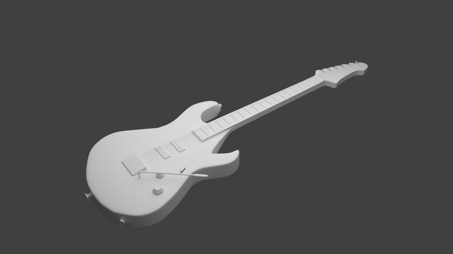 Elgitarr royalty-free 3d model - Preview no. 1