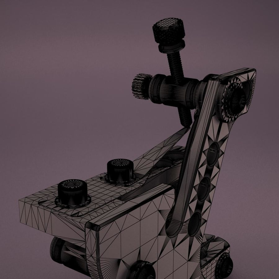 Tattoo Machine royalty-free 3d model - Preview no. 19