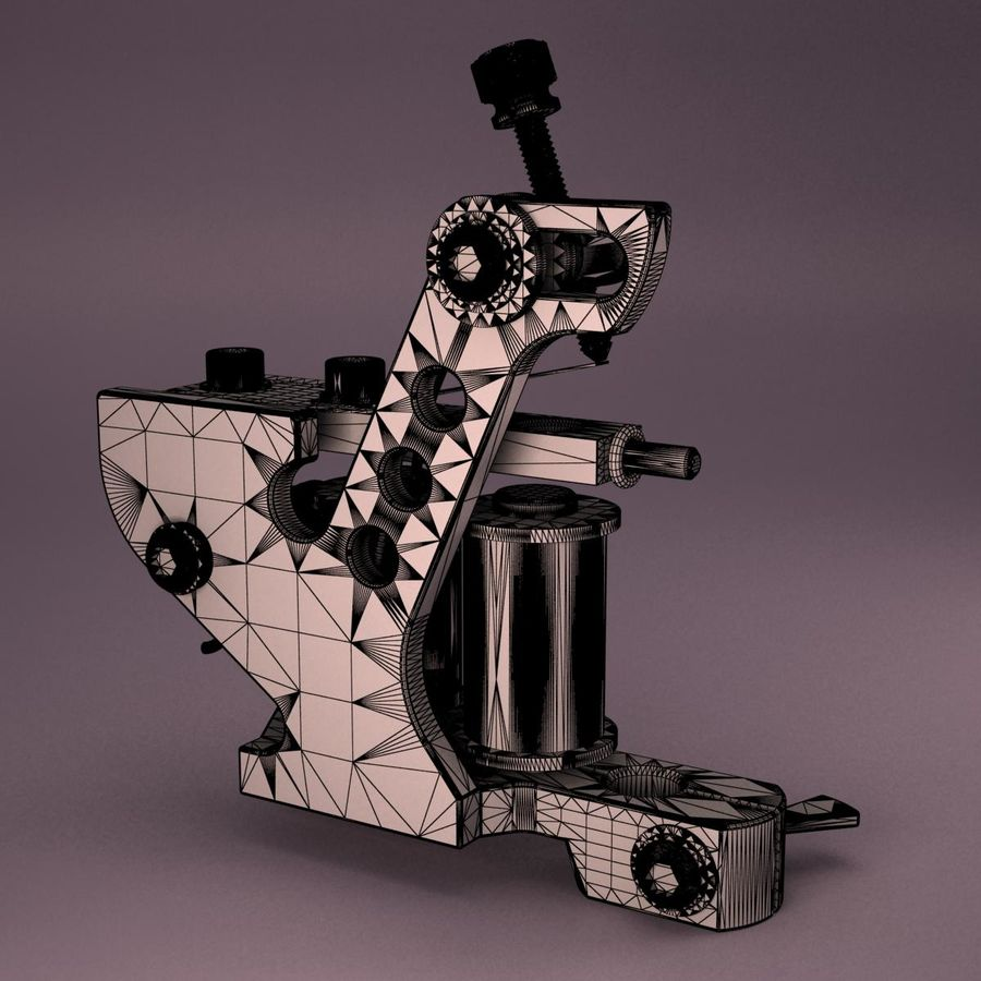 Tattoo Machine royalty-free 3d model - Preview no. 12