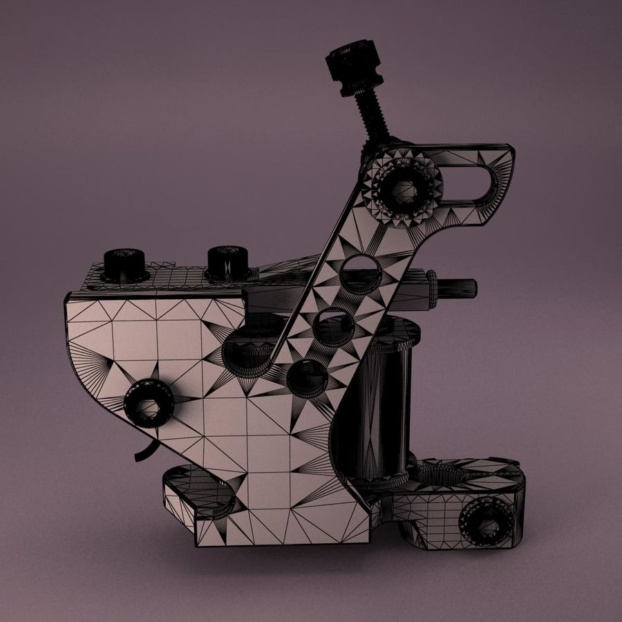 Tattoo Machine royalty-free 3d model - Preview no. 13