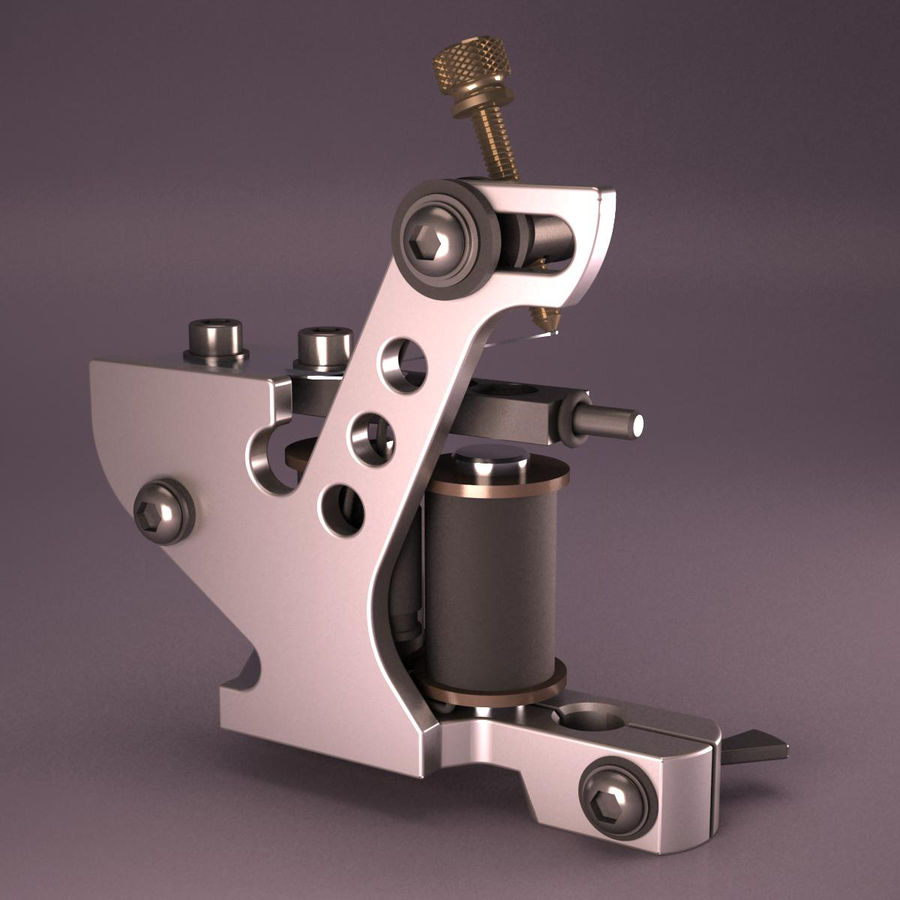 Tattoo Machine royalty-free 3d model - Preview no. 2