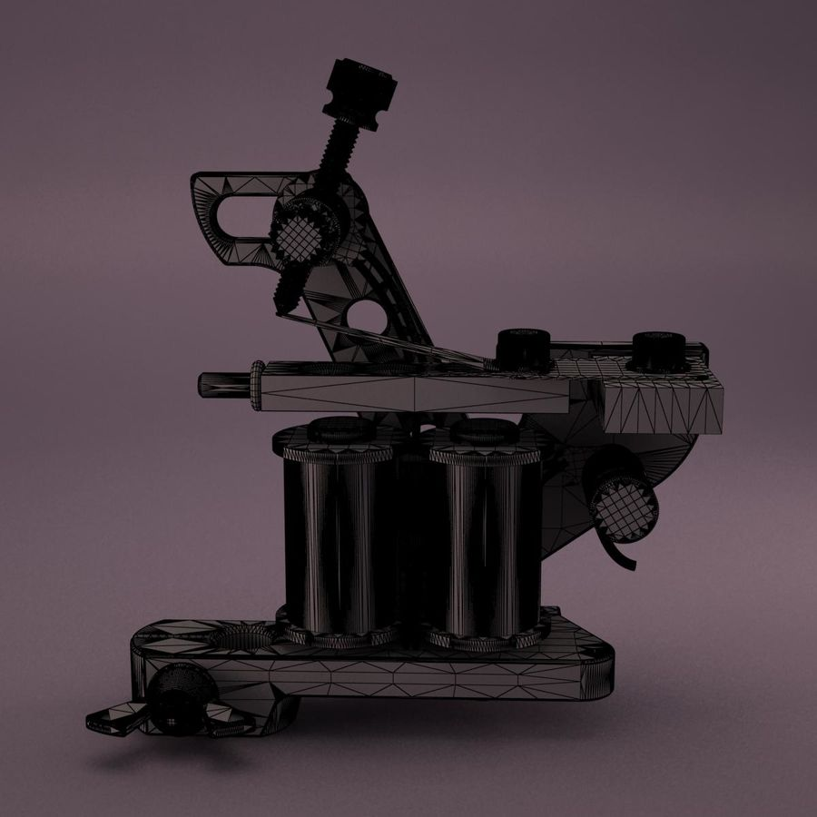 Tattoo Machine royalty-free 3d model - Preview no. 16