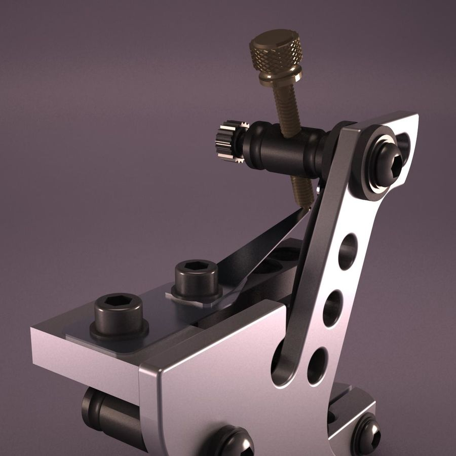 Tattoo Machine royalty-free 3d model - Preview no. 10