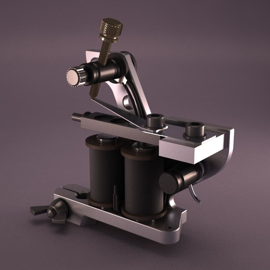 Tattoo Machine royalty-free 3d model - Preview no. 8