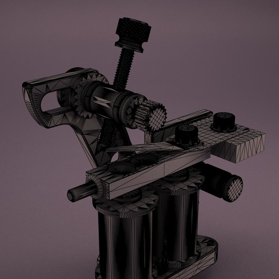 Tattoo Machine royalty-free 3d model - Preview no. 18