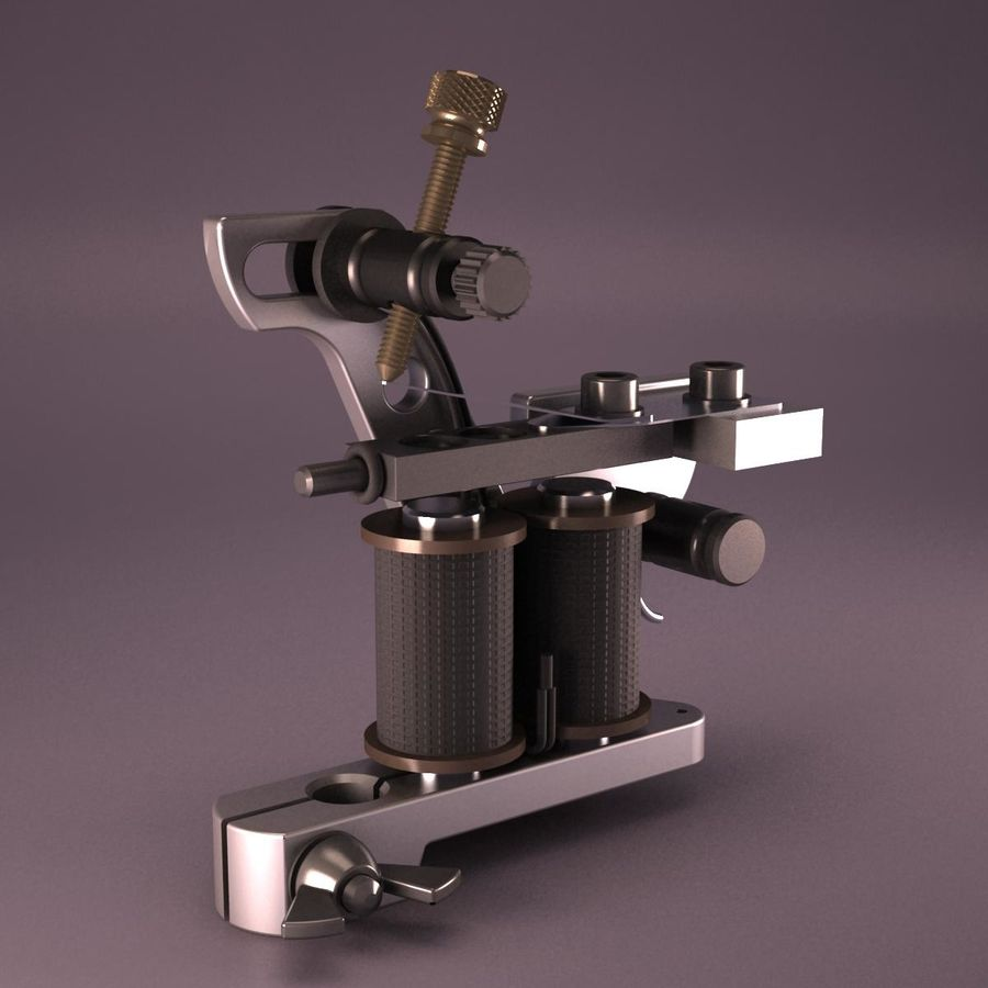 Tattoo Machine royalty-free 3d model - Preview no. 5