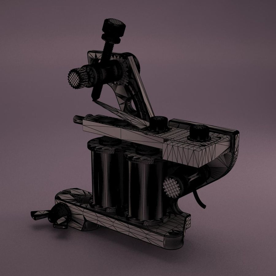 Tattoo Machine royalty-free 3d model - Preview no. 17
