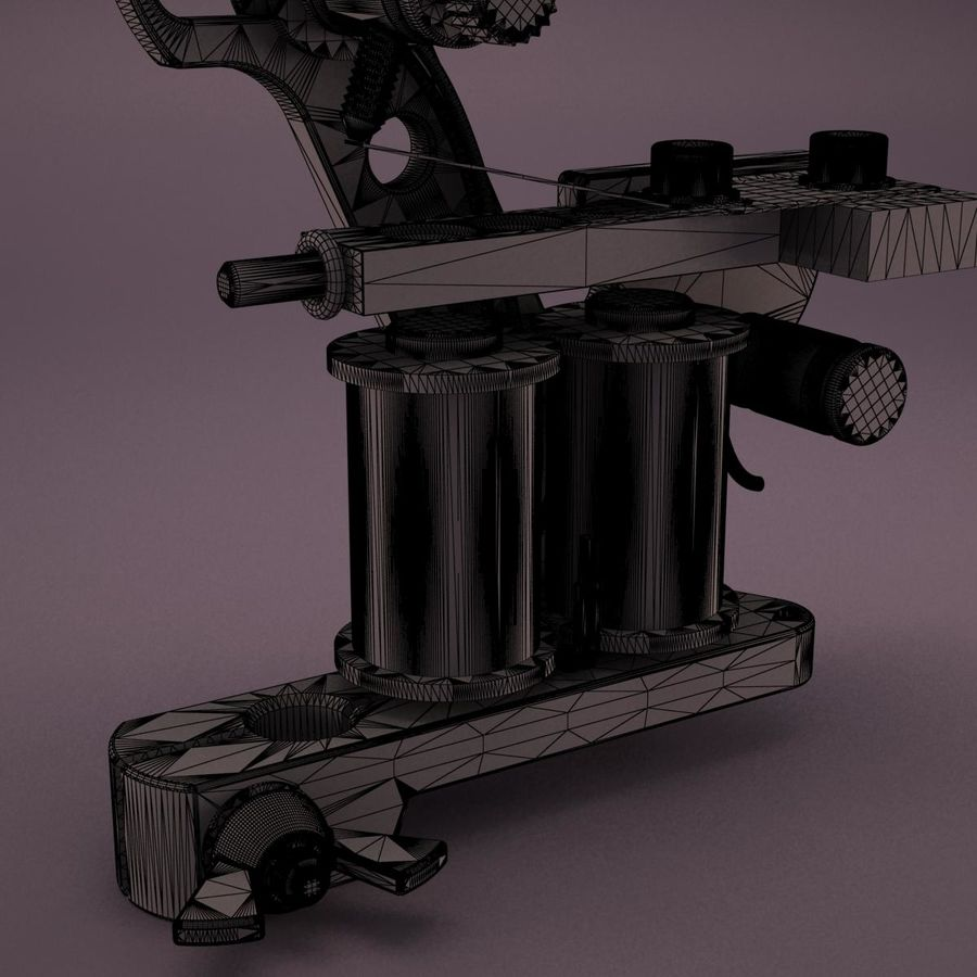 Tattoo Machine royalty-free 3d model - Preview no. 20