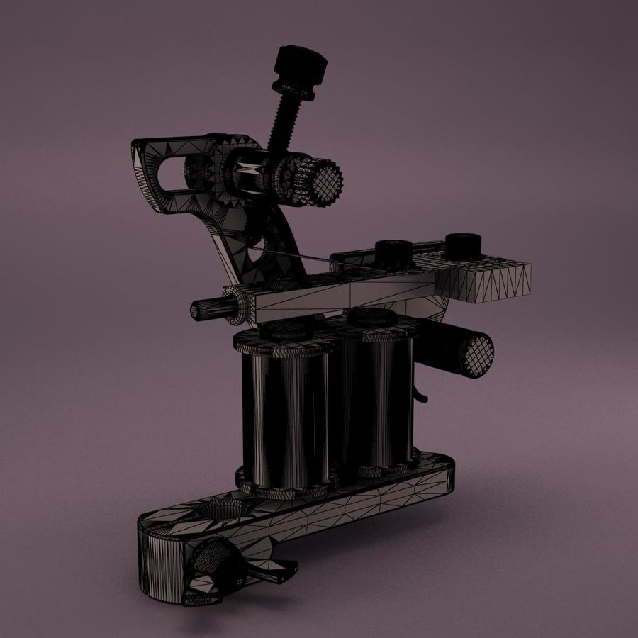 Tattoo Machine royalty-free 3d model - Preview no. 15