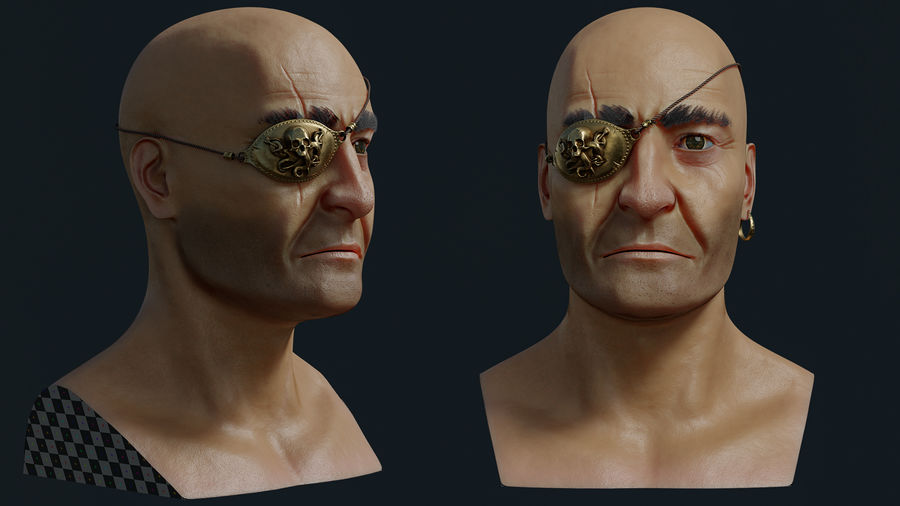 Pirate royalty-free 3d model - Preview no. 5