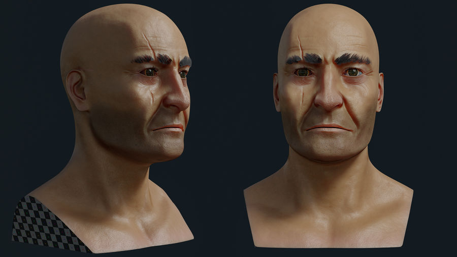 Pirate royalty-free 3d model - Preview no. 6