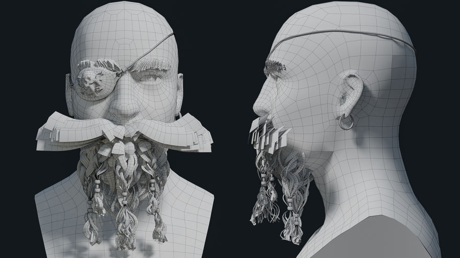 Pirate royalty-free 3d model - Preview no. 10