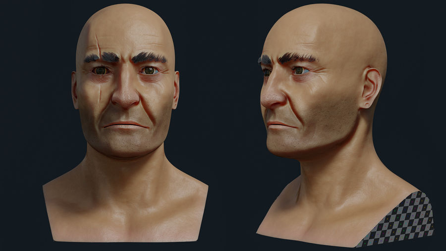 Pirate royalty-free 3d model - Preview no. 4