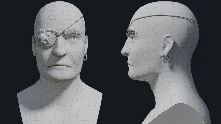 Pirate royalty-free 3d model - Preview no. 9