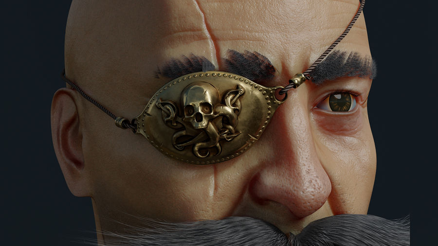 Pirate royalty-free 3d model - Preview no. 8