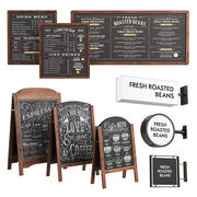 Publicité dans les cafés 3d model