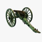 南北戦争14パウンダージェームズライフル 3d model
