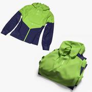 Female sport jacket set 3d model