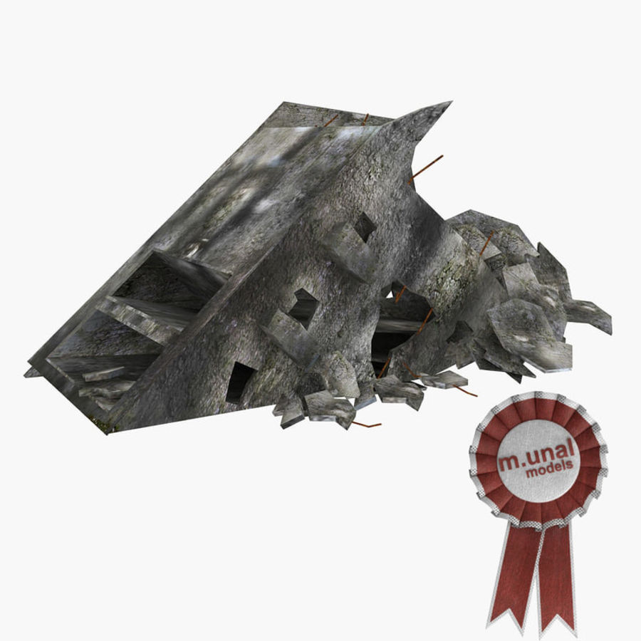 Ruined Destroyed Buildings royalty-free 3d model - Preview no. 35