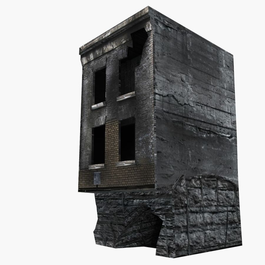 Ruined Destroyed Buildings royalty-free 3d model - Preview no. 15