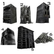 Bâtiments détruits en ruine 3d model