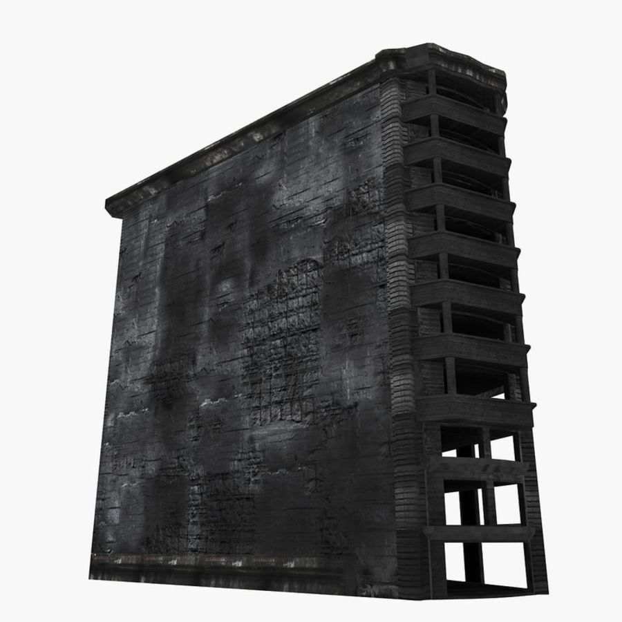 Ruined Destroyed Buildings royalty-free 3d model - Preview no. 28