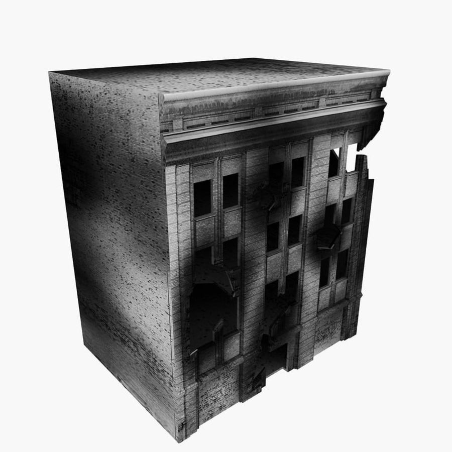 Ruined Destroyed Buildings royalty-free 3d model - Preview no. 25