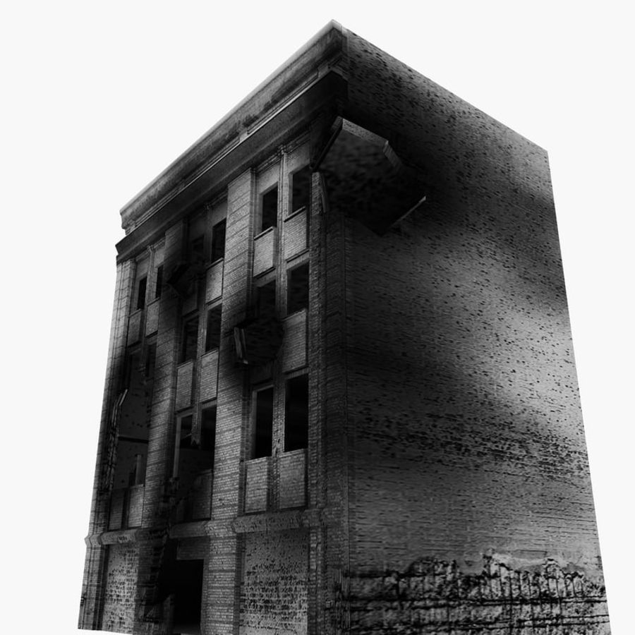 Ruined Destroyed Buildings royalty-free 3d model - Preview no. 20