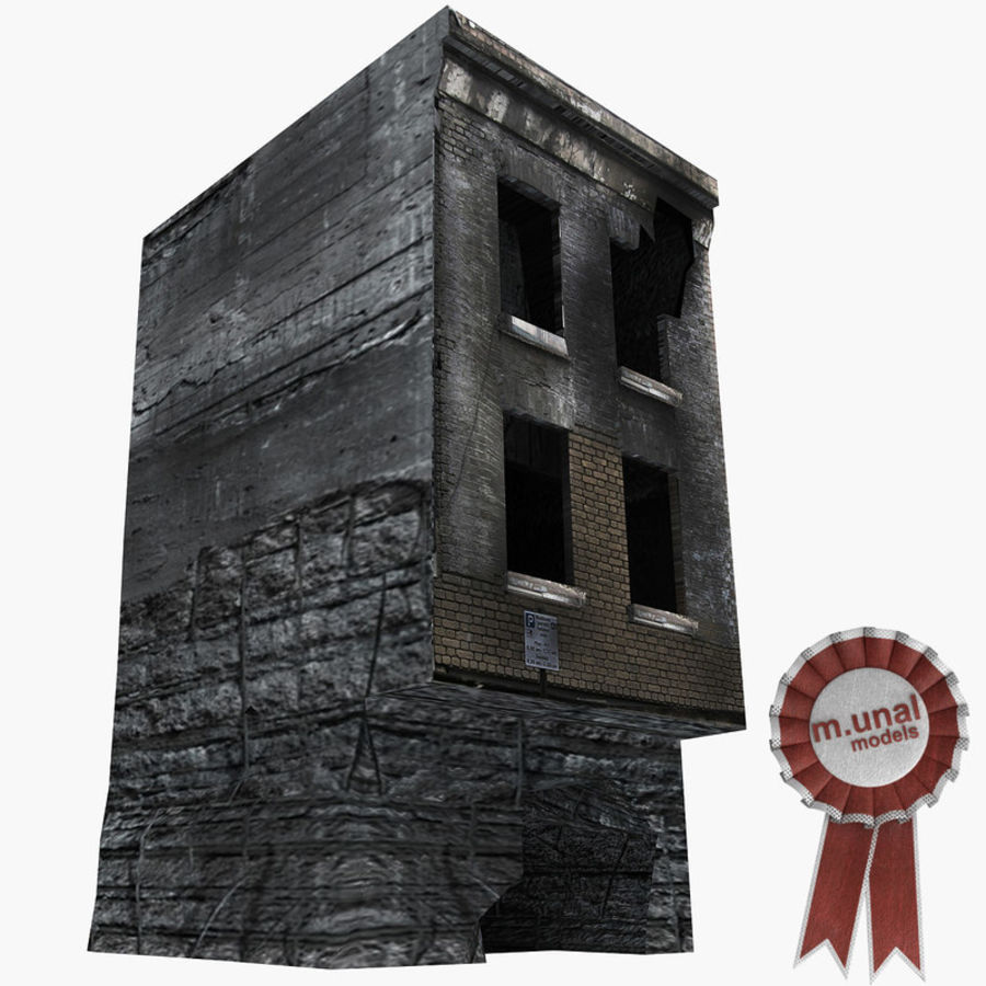 Ruined Destroyed Buildings royalty-free 3d model - Preview no. 14