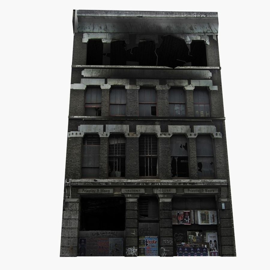 Ruined Destroyed Buildings royalty-free 3d model - Preview no. 5