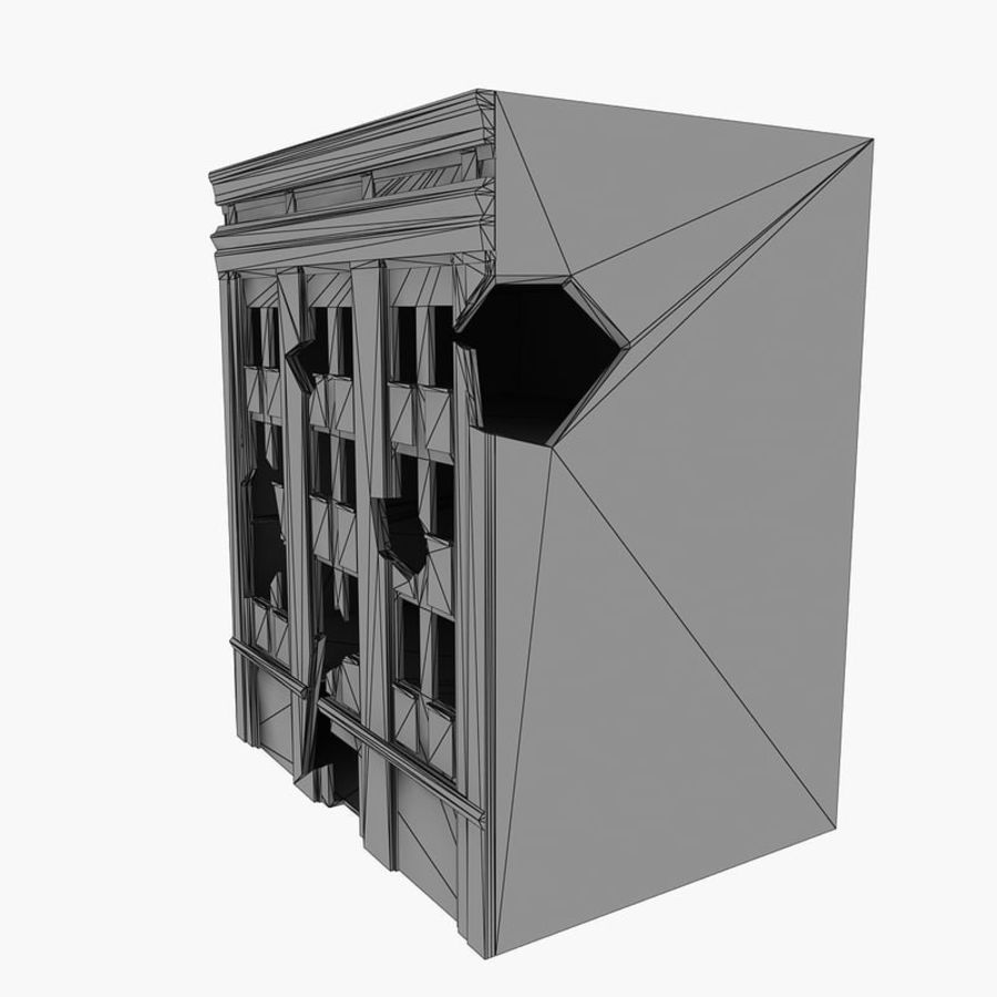 Ruined Destroyed Buildings royalty-free 3d model - Preview no. 29