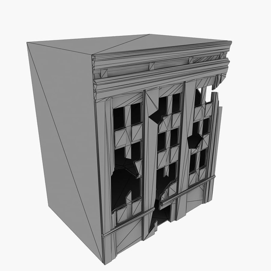 Ruined Destroyed Buildings royalty-free 3d model - Preview no. 27