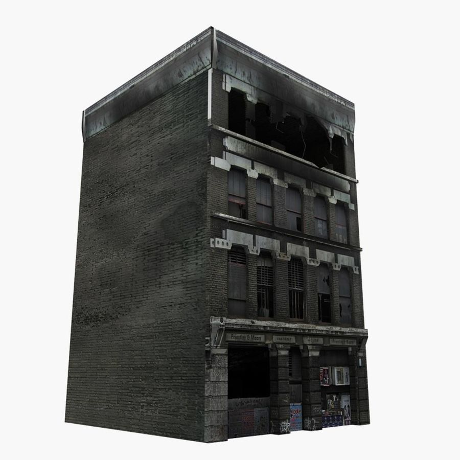 Ruined Destroyed Buildings royalty-free 3d model - Preview no. 3