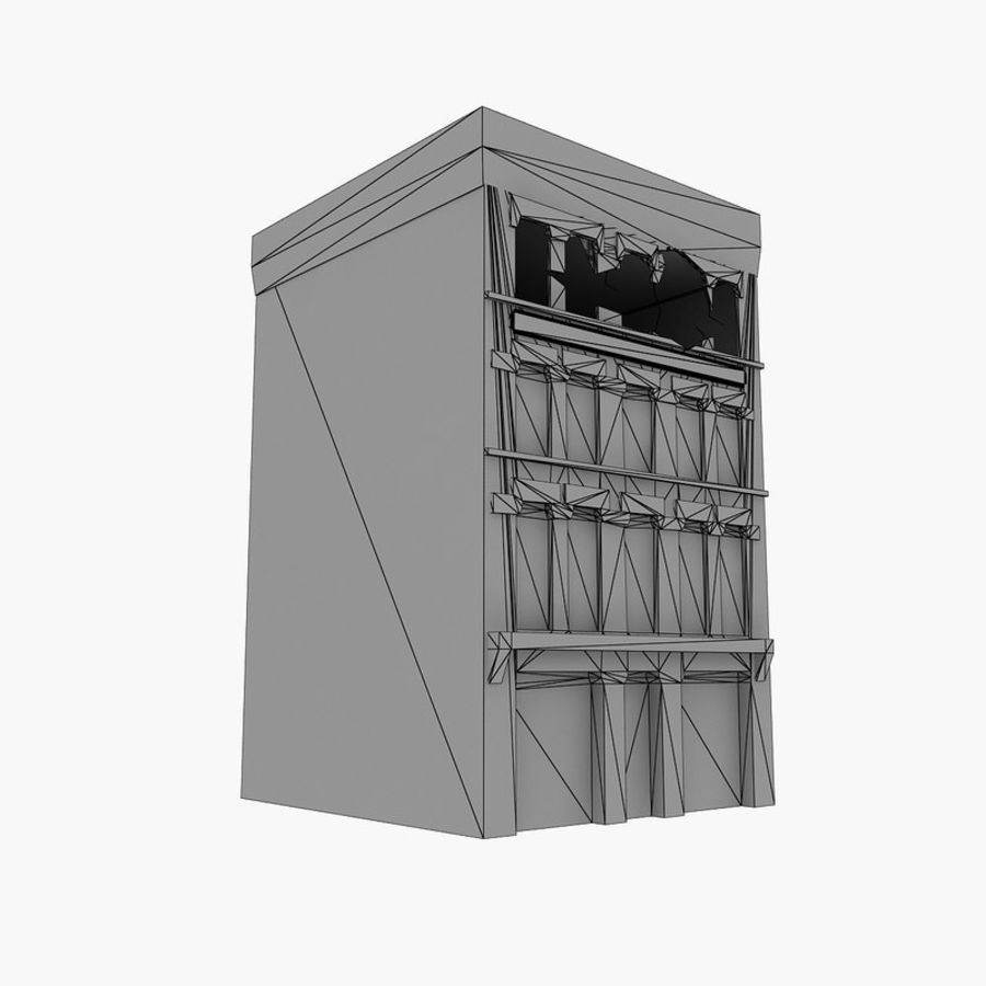 Ruined Destroyed Buildings royalty-free 3d model - Preview no. 11