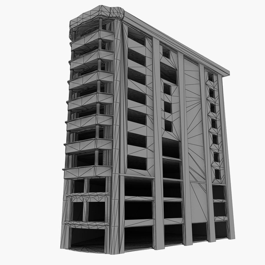 Ruined Destroyed Buildings royalty-free 3d model - Preview no. 34