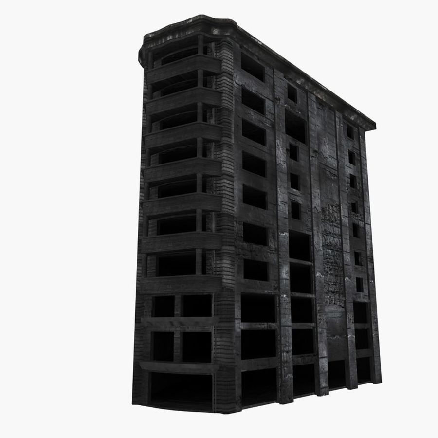 Ruined Destroyed Buildings royalty-free 3d model - Preview no. 31