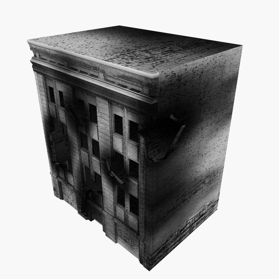 Ruined Destroyed Buildings royalty-free 3d model - Preview no. 24