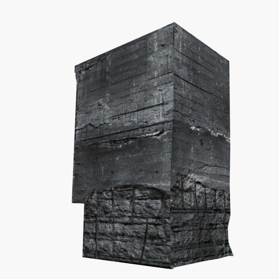 Ruined Destroyed Buildings royalty-free 3d model - Preview no. 16