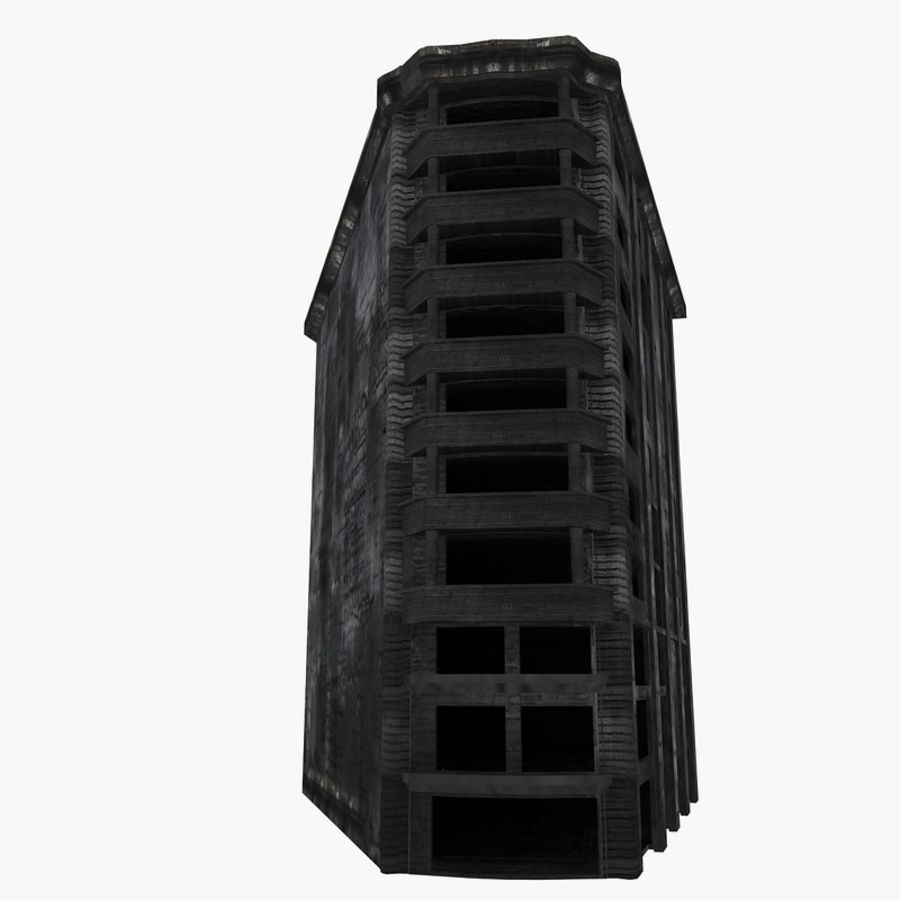 Ruined Destroyed Buildings royalty-free 3d model - Preview no. 38