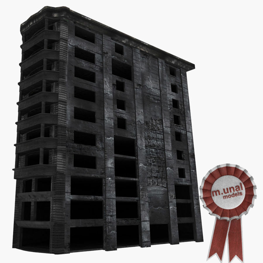 Ruined Destroyed Buildings royalty-free 3d model - Preview no. 26