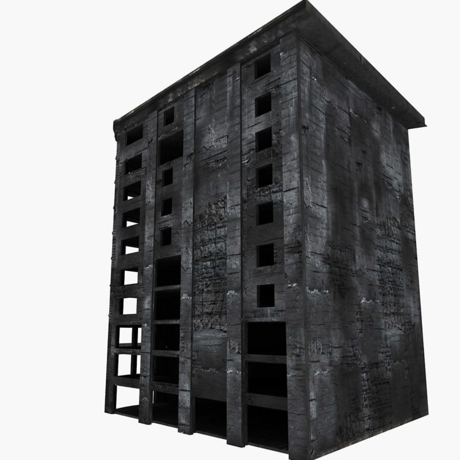 Ruined Destroyed Buildings royalty-free 3d model - Preview no. 32