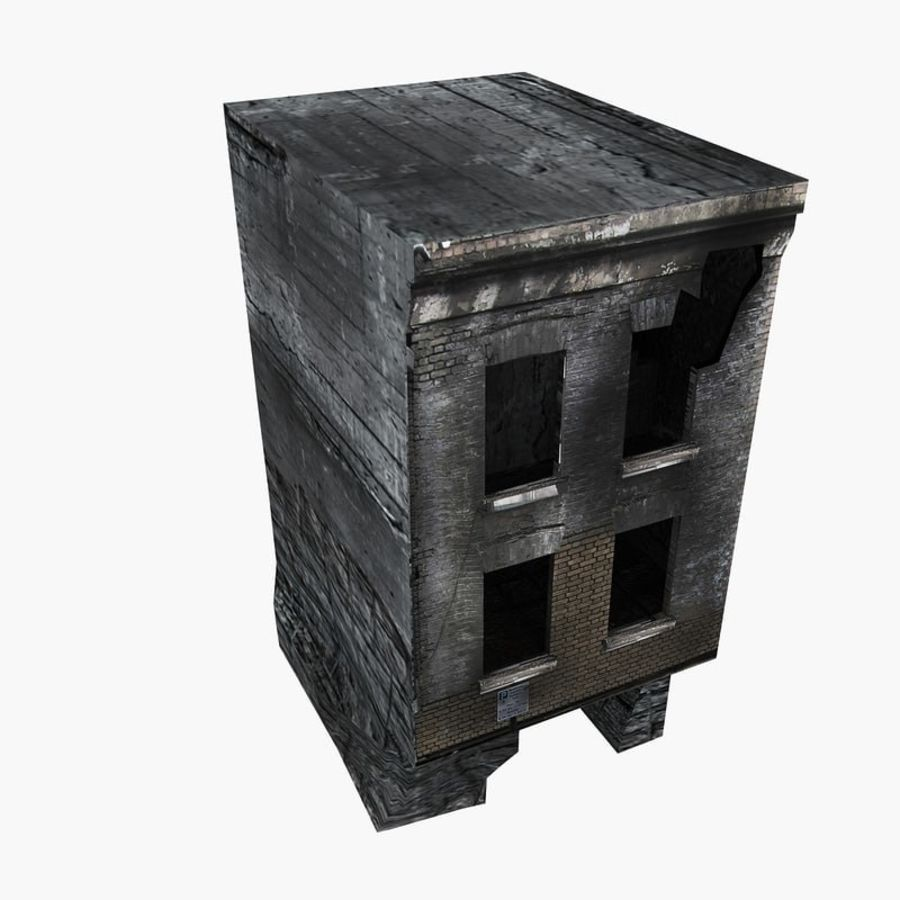 Ruined Destroyed Buildings royalty-free 3d model - Preview no. 18