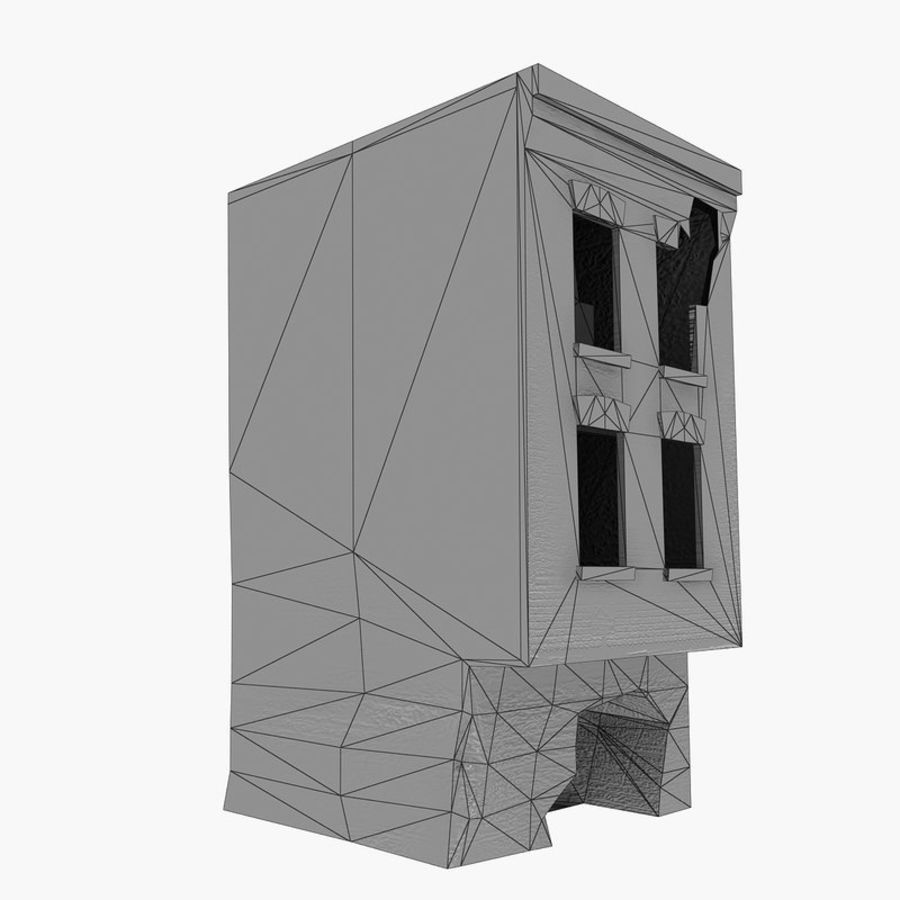 Ruined Destroyed Buildings royalty-free 3d model - Preview no. 21