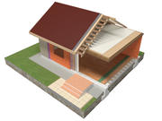 bakstenen huis bouw 3d model